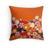 Japanese kimono 3 Throw Pillow