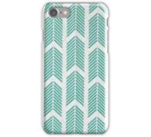 Blue and white arrow pattern iPhone Case/Skin