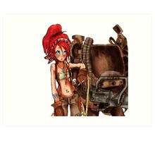 Steampunk girl with Amplified Mobility Platform Art Print