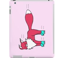 Little Red Fox goes rollerblading iPad Case/Skin
