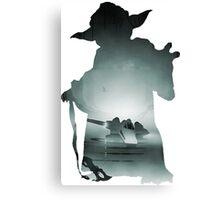 Yoda Silhouette Canvas Print