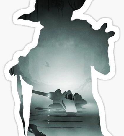Yoda Silhouette Sticker