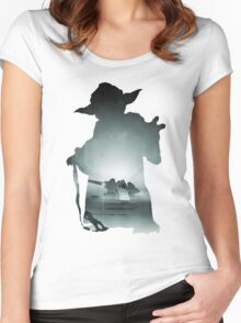 Yoda Silhouette Women's Fitted Scoop T-Shirt