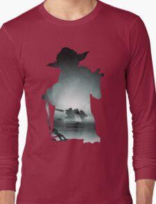 Yoda Silhouette Long Sleeve T-Shirt