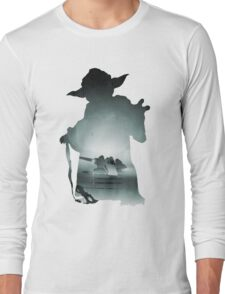 Yoda Silhouette Long Sleeve T-Shirt