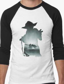 Yoda Silhouette Men's Baseball ¾ T-Shirt