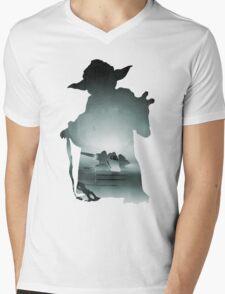 Yoda Silhouette Mens V-Neck T-Shirt