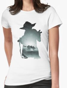 Yoda Silhouette Womens Fitted T-Shirt