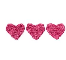 Pink Love Hearts in a Row by KeksWorkroom