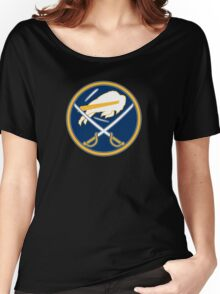 Sabres - Bills Logo Mashup Women's Relaxed Fit T-Shirt