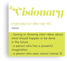 Definition of Visionary Canvas Print