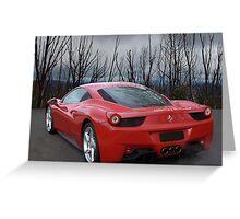 Ferrari 458 (back) Greeting Card
