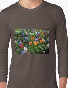 Colourful Array of Tulips and Hyacinths - Keukenhof Gardens Long Sleeve T-Shirt
