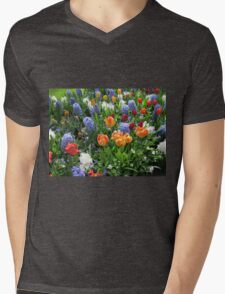 Colourful Array of Tulips and Hyacinths - Keukenhof Gardens Mens V-Neck T-Shirt