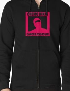Chemo Ninja Cancer Assassin Funny Geek T-Shirt