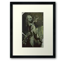 Female Elf Tarot Card Framed Print