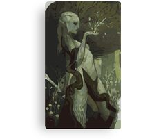 Female Elf Tarot Card Canvas Print