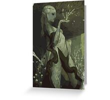 Female Elf Tarot Card Greeting Card