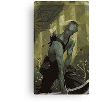 Male Elf Tarot Card Canvas Print