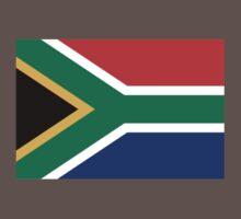 South Africa Flag - African Rugby Springboks, Sticker Duvet Bedspread T-Shirt One Piece - Short Sleeve