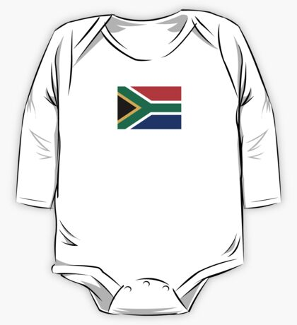 South Africa Flag - African Rugby Springboks, Sticker Duvet Bedspread T-Shirt One Piece - Long Sleeve