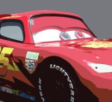 Lightning Mcqueen Race Car  Sticker