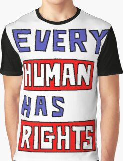 HUMAN RIGHTS Graphic T-Shirt