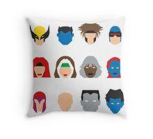 Xmen Icons Throw Pillow