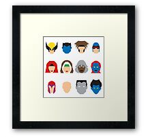 Xmen Icons Framed Print