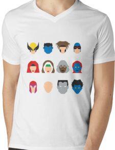 Xmen Icons Mens V-Neck T-Shirt