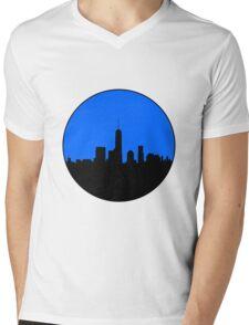 World Trade Center Skyline Minimalist Design Mens V-Neck T-Shirt