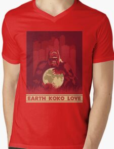 Earth Koko Love Mens V-Neck T-Shirt