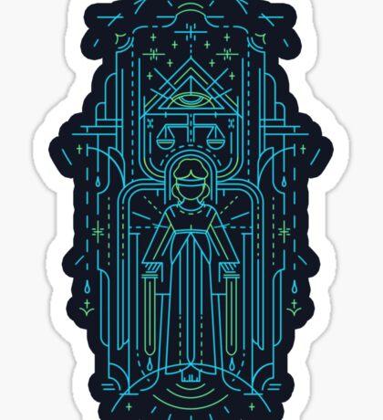 Justitia (Lady Justice) Sticker
