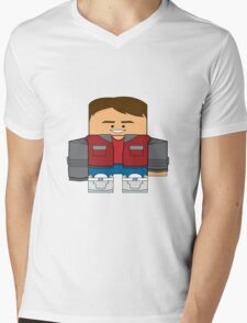Back to the Future - Marty McFly (Future) Mens V-Neck T-Shirt