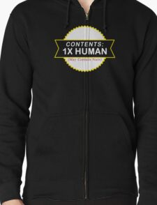 Contents  Human May Contain Nuts Funny Geek Nerd T-Shirt