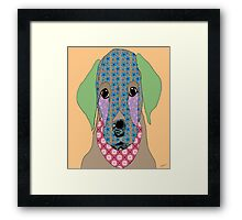Cute Labrador Framed Print