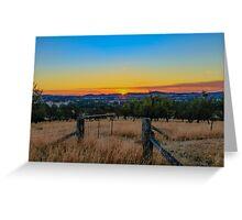 Gateway to Sunset Australia Greeting Card