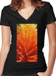 Hot Poker Up Close Women's Fitted V-Neck T-Shirt