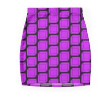 Cubes - Purple Mini Skirt