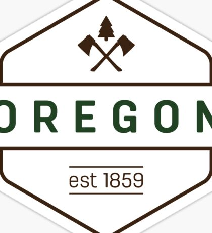 Oregon Axe Badge Sticker