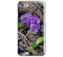 Tiny petals ~ Hardenbergia violacea (False sarsaparilla) iPhone Case/Skin