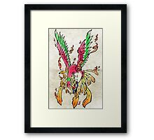 Pokemon Ho-Oh Ink Painting Framed Print