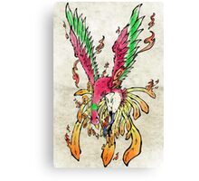 Pokemon Ho-Oh Ink Painting Canvas Print