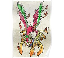 Pokemon Ho-Oh Ink Painting Poster