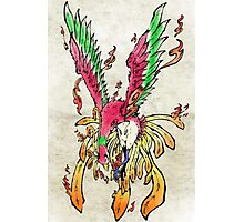 Pokemon Ho-Oh Ink Painting Photographic Print