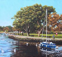 Sailing Boats and Yachts on the River Stour Christchurch by martyee