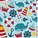 Nautical Themed Background by Pamela Maxwell