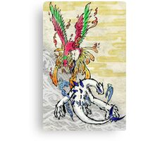 Pokemon Ho-Oh & Lugia Ink Painting Canvas Print