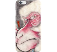 A Happy New Year Card 2016 Monkey and Longers iPhone Case/Skin