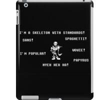 Undertale Funny Papyrus Design! iPad Case/Skin